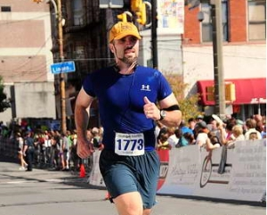 Me running in the marathon
