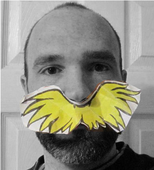 Photo of me as the lorax