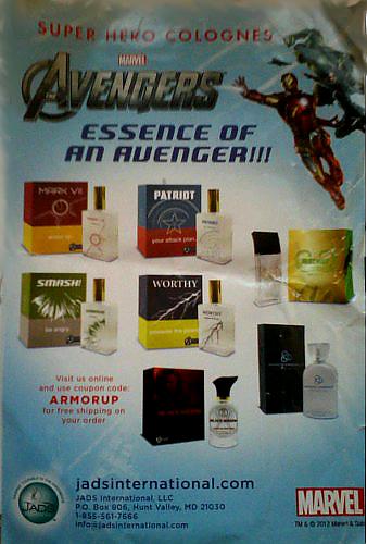 Avengers cologne Ad